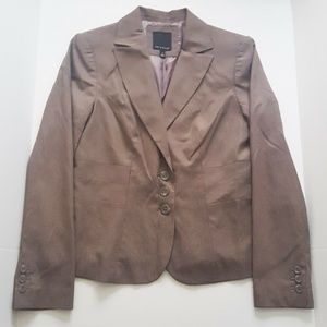 The Limited Brown Pinstripe Womens Blazer Career 6